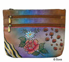 Sova Hand Painted Metro Cosmetic Case /Utility Pouch
