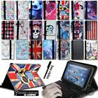 'Leather Stand Cover Case + Keyboard For For Amazon Kindle Fire 7 8 Tablet