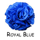 "7""/10"" Flower Kissing Ball Wedding Silk Rose Party Pomander- 20 Colors available"