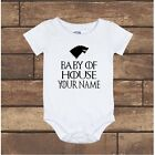 Custom Game of Thrones Baby of House Your Name Gerber Baby Onesie Newborn - 24M