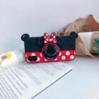 3D Cartoon Creative Camera Bracket Ring Soft Case Cover For iPhone OPPO Huawei