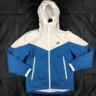 Nike Packable Windrunner Full Zip Jacket Blue Grey White 917809-072 Mens XXL 2XL