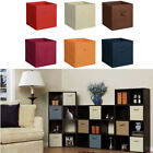 6Set Fabric Storage Bins Organizer Cube Boxes Basket Drawer Container 8Colors