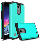 For LG Rebel 4 LTE Shockproof Hybrid Hard Armor Full Protective Slim Case Cover