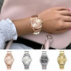 1pcs Fashion Geneva Ladies Women Girl Unisex Stainless Steel Quartz Wrist Watch image