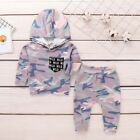 Toddler Infant Baby Kids Boy Camouflage Hoodie Tops+Pants Outfits Clothes Set D8