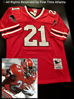 NEW Deion Sanders Atlanta Falcons Men's M&N RED Home Retro Jersey Braves Era on eBay