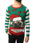 Ugly Christmas Sweater Teen Boy's Pug Cookie LED Light Up Sweatshirt