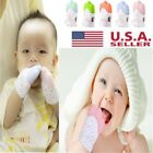 Silicone Baby Mitts Teething Glove Candy Wrapper Teeth Bite Sound Toy Safety