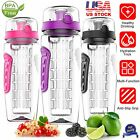 1000ml Fruit Infusion Infusing Infuser Water Bottle Health BPA-Free Plastic NEW