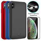For iPhone XS Max/XR/XS/X Battery Charging Case Power Bank With Screen Protector