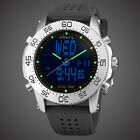 INFANTRY MENS LED DIGITAL ANALOG WRIST WATCHES ALARM SPORT MILITARY BLACK RUBBER image