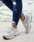 New Womens Chunky Lace Up Trainers Sports Running Comfy Ladies Shoes Sizes 3-8