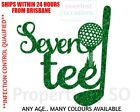 Personalised Custom GOLF CLUB TEE 40 50 60 70 80 - Any Age Birthday Cake Topper