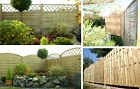 Wooden Garden Lap Fence Panels Treated Fencing Curved Overlap 6ft X 6ft Delivery