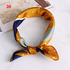 Head-Neck Tie Hair Band Silk Feel Satin Bandana Handkerchief Women Square Scarf