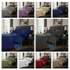 800 TC Plain Dyed Cotton Rich Duvet Cover / Extra Deep / Fitted / Flat Bed Sheet image
