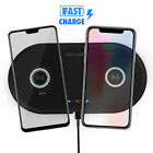 Dual Positions Fast Wireless Charger Charging Pad Mat for iPhone X 8 Samsung S9