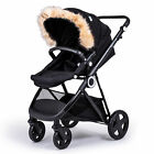 Pram Fur Hood Trim Attachment For Pushchair Compatible with Mountain Buggy