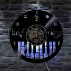 Treble Clef Music Notes Record Wall Clock LED Musical Piano Music instrument