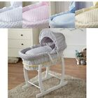 Luxury Baby Wicker Moses Basket Full Set with Rocking Stand