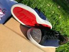 Christian Louboutin Louis Junior Orlato Strass Blue Sneakers New