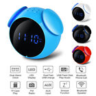 Portable Waterproof Wireless bluetooth Radio Speaker LED Alarm Clock MP3 Player