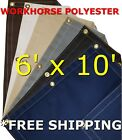 6' x 10' Workhorse Polyester Waterproof Breathable Canvas Tarp