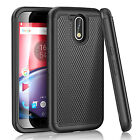 Hybrid Rugged Shockproof Protective Matte Case Cover for Motorola Moto G4 Plus