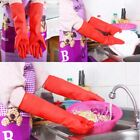 US Kitchen Wash Dishes Cleaning Waterproof Long Sleeve Rubber Latex Gloves Tools