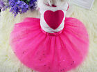 UK FANCY PINK PARTY DRESS OUTFIT COSTUME FOR SMALL GIRL DOGS PETS PUPPY CATS NEW