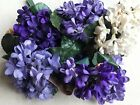 Vintage Millinery Flower Purple Ivory Blue Violets German Choose your color KM8