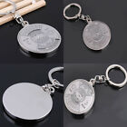Perpetual Calendar Keyring Time Schedule Pendant Keychain Silver Alloy Keyfob