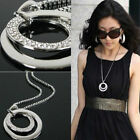 Vintage Boho Women Multi-layer Long Chain Pendant Alloy Choker Necklace Jewelry