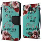 For Motorola Moto Z Droid Edition Heavy-Duty Wallet Card Slot Stand Case Cover