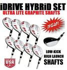 SENIOR LADY WOMEN ALL HYBRIDS 3-9 + FREE PW LADIES HIGH LAUNCH LITE GRAPHITE SET