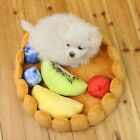 Fruit Pie Pet Cat Kitty Bed House Warm Puppy Mini Dog Bed Chihuahua Yorkshire