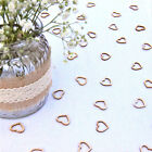 Hollow Rustic Decorations Wedding Table Confetti Fashion Wooden Hearts Love