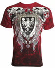ARCHAIC by AFFLICTION Mens T-Shirt RUSE Skull Vertebrae Motorcycle Biker $40 image
