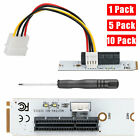 Lot M.2 Key M NGFF to PCI-E 4X Adapter Card w/ 4 PIN Power Cable Screwdriver Kit