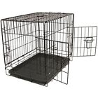 Pet Crate Metal Cage Secure Dog with Folding Tray Home Training Oxgord
