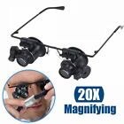 20X Glasses Type Magnifier Watch Repair Tool with Two LED Lights RPG image