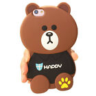 For Apple iPhone Case Cover HOT 3D Cute Kawaii Cartoon Animals Soft Silicone