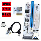Lot Extender VER Riser Card USB 3.0 PCI-E Express 1x To 16x Adapter Power Cable