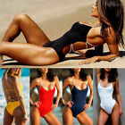 Women's One Piece Monokini Swimsuit Swimwear Beachwear Push Up Bathing Bikini $2.56 USD on eBay