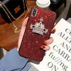 Fashion Luxurious Glitter Square Diamond Queen Crown Case Cove For Various Phone