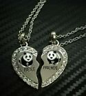 NEW BEST FRIEND Yin Yang 2 Pendants Necklace Set BFF Friendship Crystal Ying USA