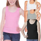 Girls Tank Top, Little Girls' Ribbed Tank Top Pack of 3