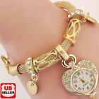 New Bracelet Wrist Watch for woman silver gold bangle band crystal lady Fashion image