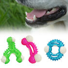 Dog Toys Plastic Puppy Rubber Dental Pull Tough Biting Play Chew Ring Chewing